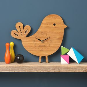 Bird Personalised Childrens Clock