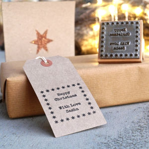 Personalised Christmas Gift Stamp - office & study