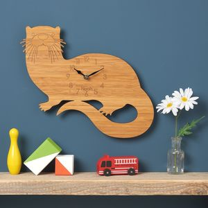 Otter Personalised Childrens Clock - last-minute gifts
