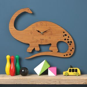 Diplodocus Personalised Childrens Dinosaur Clock