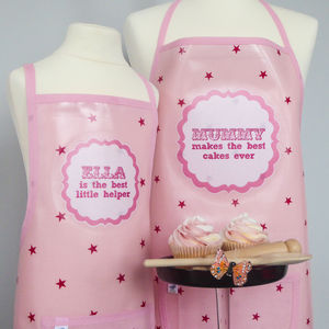 Personalised 'Bakes The Best' Oilcloth Apron - aspiring chef