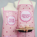 Thumb personalised oilcloth apron