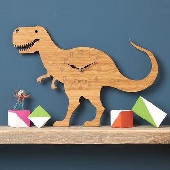 T Rex Personalised Childrens Dinosaur Clock