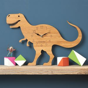 T Rex Children's Dinosaur Clock - children's clocks