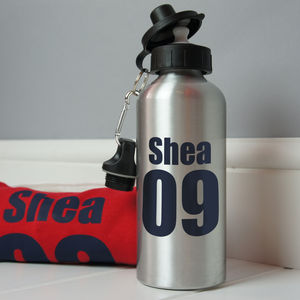 Personalised Name And Number Water Bottle - storage & organisers