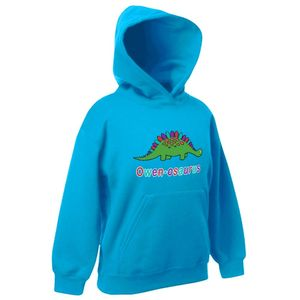 Personalised Childrens Dinosaur Hoodie
