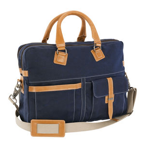 Waxed Canvas Brief Case - laptop bags & cases