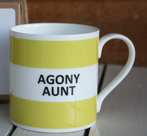 'Agony Aunt' Fine Bone China Mug