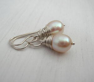 Aa Ivory Pearl Earrings