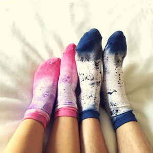 His And Hers Lovers Socks The Fandangle - on trend: art-inspired