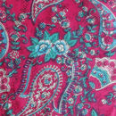 Fabric close up - Pink Paisley