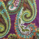 Fabric close up - Purple/Green Paisley