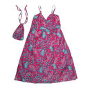 Travel Strap Dress in Pink Paisley