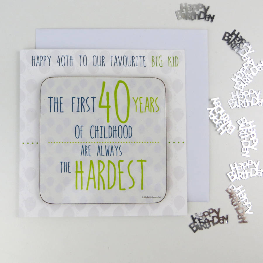 40th Birthday Card With Custom 2019