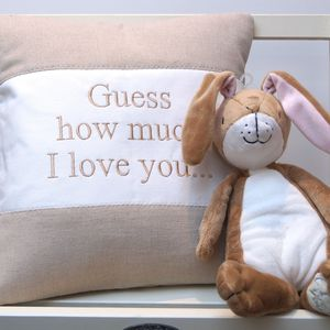 Guess How Much I Love You Gift Set - children's cushions