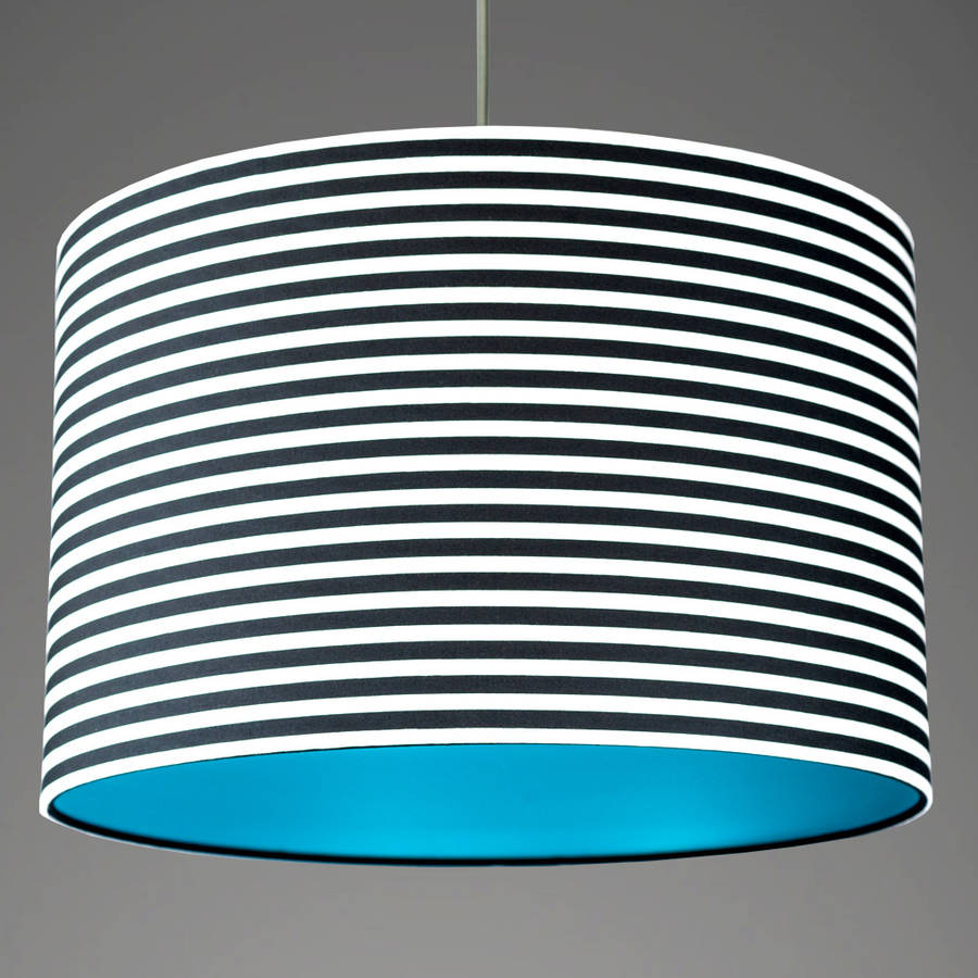 pick and mix stripe drum lampshade choice of colours by quirk ...