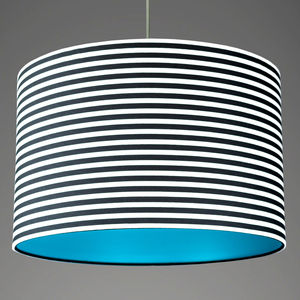Pick And Mix Stripe Drum Lampshade Choice Of Colours - lampshades