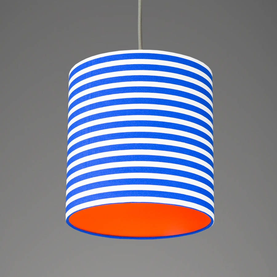 Pick And Mix Stripe Drum Lampshade Choice Of Colours By Quirk