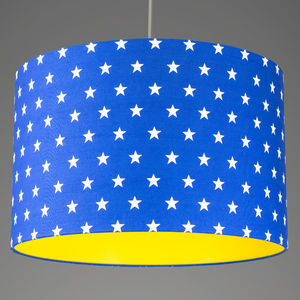 Pick And Mix Star Drum Lampshade Choice Of Colours - bedroom