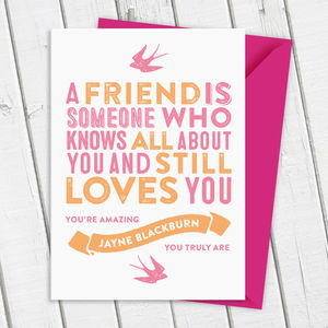Best Friend Card - thank you cards