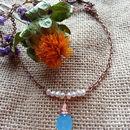 Ellie Rosegold Freshwater Pearl Necklace