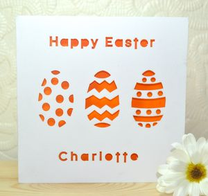 Personalised Laser Cut Easter Card - easter cards