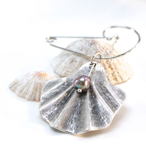 Contemporary Shell And Pearl Brooch - women's jewellery
