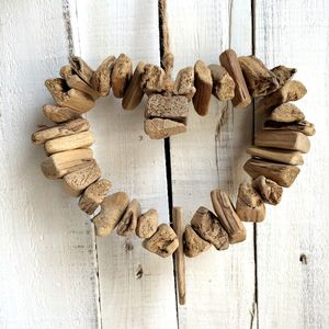 Driftwood Heart Hanging Wreath Decoration Sale