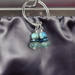 Aquamarine And Silver Earrings