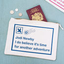 Personalised Postcard Travel Pouch