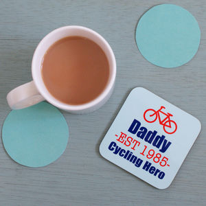 Personalised 'Cycling Hero' Coaster - placemats & coasters