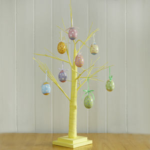 Painted Yellow Easter Tree