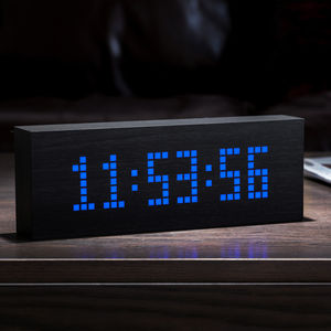 Black Message Click Clock