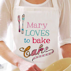 Personalised 'Bake Cake' Apron