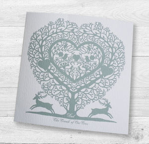 Father's Day Tree Heart Card - cards & wrap