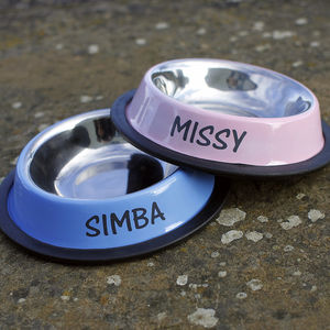 Personalised Pet Bowl - bowls & mats