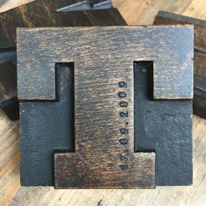 Vintage Hand Stamped Dated Letterpress - decorative letters