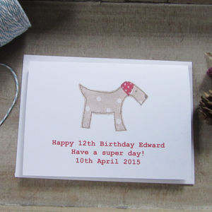 Personalised Dog Birthday Card - birthday cards