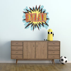 Personalised Comic Book Wall Sticker - wall stickers