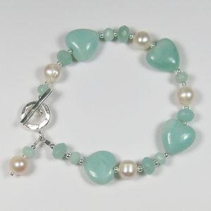 Freshwater Pearl And Amazonite Heart Bracelet - women's jewellery