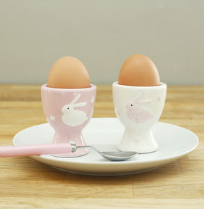 Pair Of Bunny Egg Cups - tableware