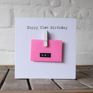 Personalised Mini Envelope Money Cash Gift Card - blank cards