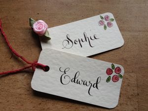 10 Hand Lettered Favour/Gift Tags - place cards