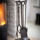 Wrought Iron Fireside Four Piece Set
