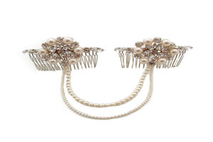 Duo Drape Comb - wedding jewellery