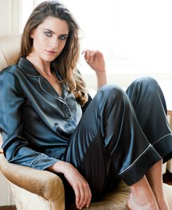 Women's Silk Long Pyjama Set - wedding fashion