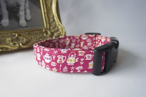 Mad Hatters Tea Party Liberty Print Dog Collar