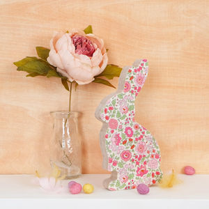 Liberty Print Fabric Bunny Ornament