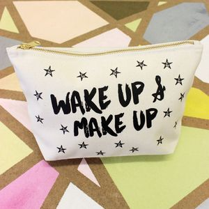 Personalised 'Wake Up And Make Up' Bag - gifts for her