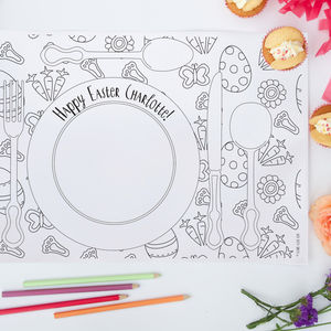 Colouring Easter Placemats Pack - easter homeware